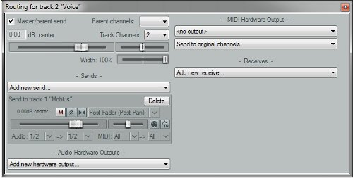 Routing for tracks to Mobius